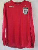 England 2006-2008 Away Football Shirt Size Large LS /9110