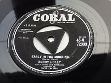 Buddy hollyoriginal 1957 GB 45 Early in the Morning Tri 'Center' excellent