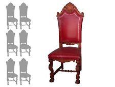 série de 6 chaises style renaissance skai rouge