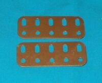 meccano 2 poutrelles 5 trous No103f  doré