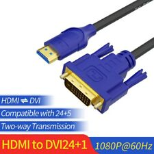 HDMI to DVI-D Dual Link (24+1) Cable Cord For HDTV PC Moitor LCD Support HD1080p
