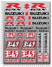 For Suzuki GSXR sticker set 29 decals Laminated gsx-r 600 1000 yoshimura 750 wht