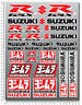 For Suzuki GSXR sticker set 29 decals Laminated gsx-r 600 1000 yoshimura 750 wht