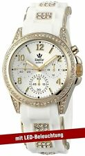 King Star Damenuhr Strass Licht Gehäusefarbe Gold Silikonarmband  Uhr King Star