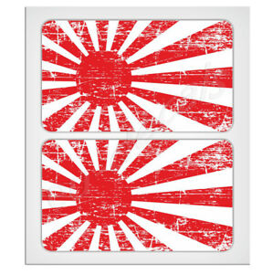 "2X70mm-2.76"" Distressed Japan Rising Sun flags Laminated Decal Sticker classic z"