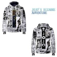 JoJo's Bizarre Adventure Hoodie Men Women Anime Casual Pullover Sweatshirt Coat