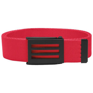 Adidas CLEARANCE 3-Stripes Webbing Canvas Golf Belt One Size (Ray Red)