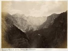 Madeira, Grand Curral, Serrado vintage albumen print Tirage albuminé  20x25