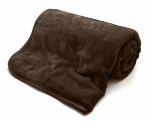 Faux Fur Mink Throw Luxury Super Soft Plain Large Bed Blanket Sofa Settee Throw