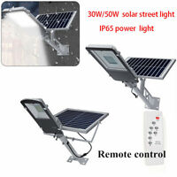 30W/50W LED Solar Street Light Remote Control Road Pathway Lamp Outdoor IP65