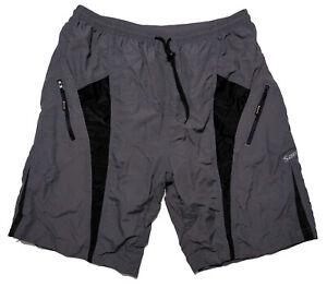 SANTIC Men's Padded Cycling Shorts Gray Fits Like XXL 2XL