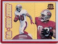 Jerry Rice SF 49ers - 1995 Pacific Crown (GOLD) Insert #190 + 2 more(3 card lot)