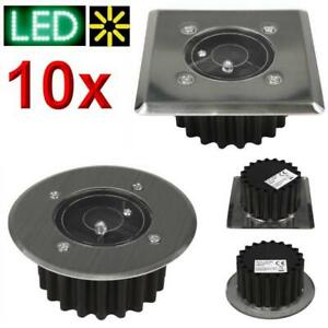 10 x Solar Bodeneinbauleuchte Bodenleuchte Bodeneinbaustrahler LED Wegelampe