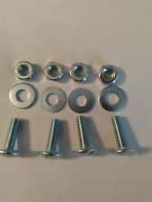 4 Pack NOS Buick Vintage License Plate Slotted Screws With Nylon Bolts