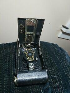Vtg AUTOGRAPHIC BROWNIE TELESCOPING NO.2 EASTMAN KODAK CAMERA 1920s parts/repair