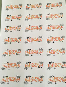 42 happy halloween Stickers Labels party bag sweets School Fairs Fund Raising