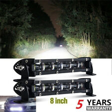 2pcs 6D 8inch Slim Single Row LED Work Light Bar Spot Flood for ATV UTE Offraod