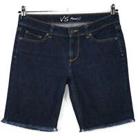 Victorias Secret Womens Pencil Jean Shorts Cut Off Size 6 Dark Stretch Frayed