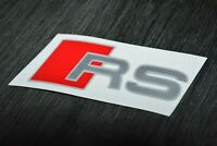 4 Pegatinas sticker decal brake caliper Audi RS pinzas freno 7 cm x 2,7 cm