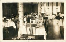 A View Of The Dining Room, Greystone Lodge, Antrim, New Hampshire NH RPPC 1930