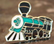 Black and Green Steam Engine Train Lapel Pin