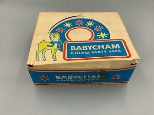Babycham Set of 6 x Vintage Retro Glasses in original Box.