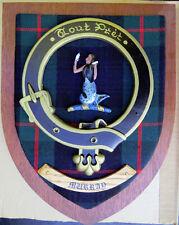 """Scottish Clan MURRAY Tartan Plaque Crest Shield LARGE 12"""" Tout Prêt"""