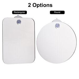 Fogless Suction Cup Mirror Shower Bathroom Fog Free Mirror Travel Portable L5S3