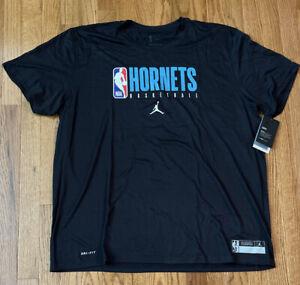 Charlotte Hornets Men's Nike Jordan Practice Legend Short Sleeve Shirt NWT 2XL