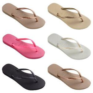 Havaianas Womens Slim Flip Flops Ladies Beach Summer Shoes