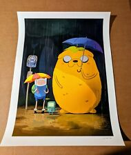 JJ Harrison My Neighbor Jake (Totoro) Adventure Time Show at Mondo Gallery Finn