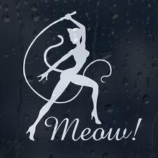 El Gato Chica Sexy Meow Dama Mujer Látigo Parachoques Ventana Calcomanía Vinilo Sticker