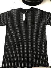 Topshop Black Embellished Black Crystal Tshirt Mini Dress Size 8 RRP £45 Bnwt