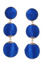 🔵 Humble Chic Women's Beehive Woven Dangles - Thread Wrapped Ball Earrings