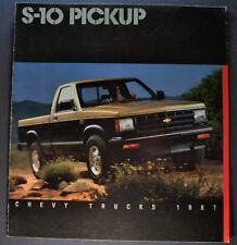 1987 Chevrolet S-10 Pickup Truck Brochure Tahoe Sport 4x4 Excellent Original 87