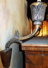 SILBER MESSING WAND BLAKER KERZEN LEUCHTER LAMPE antik Gotik Rokoko Barock