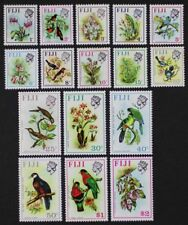 FIJI 1971-72 #305-20 QEII Flowers and Birds Cpl set of 16 Mint NH (Lot43)