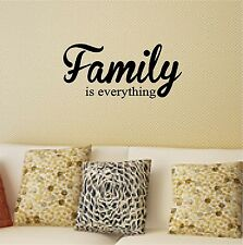 Family is Everything Wall Sticker Wall Art Decor Vinyl Decal Lettering 10x23