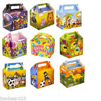 10 Childrens Themed Party Lunch Boxes Takeaway Boxes Birthday Wedding Food Box