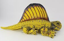 Vintage Applause Stuffed Plush dinosaur Fin lizard 1990's Determined Dimetrodon