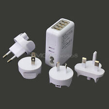 Multi-function 4 Ports USB AC  Home Office Wall Charger for Apple iPhone iPad