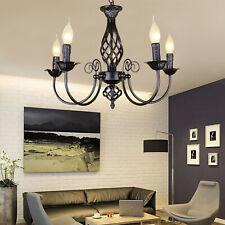 Retro Hänge Leuchte Lampe Kronleuchter schwarz Luster Decken Beleuchtung Licht
