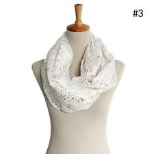 Women Warm Cotton Infinity Scarf Loop Cowl Neck Plain Wrap Shawl Circle Snood *