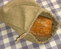Brotbeutel aus 100% Leinen, mit Kordel. Brotaufbewahrung 34 x 50 cm. Bread Bag