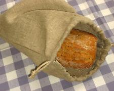 Brotbeutel aus 100% Leinen, mit Kordel. Brotaufbewahrung 30 x 40 cm. Bread Bag