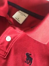 Abercrombie And Fitch Red Polo Shirt, Kids Size S