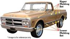 Upper Side Molding Kit w/ Hardware - 1969-72 Chevy GMC Truck Fleetside Shortbed