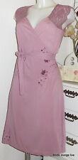 Velvet Kitten Kleid Rosen S 36 Rosebud Wrap dress rose rosa samt Hochzeit