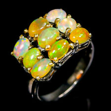 Fashion for women Natural Opal 925 Sterling Silver Ring Size 8/R97479