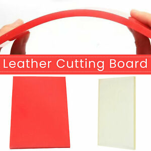 Red Clear Leather Punching Cutting Stamping Pad Tool Mat DIY Crafting Board